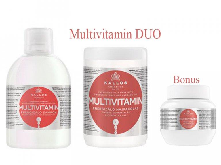 Kallos MULTIVITAMIN DUO - šampón + maska f1661d8615f