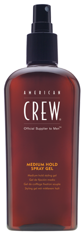 American Crew Medium Hold Spray Gel - gél v spreji, 250 ml
