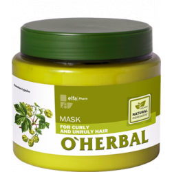 O´HERBAL For Curly and Unruly hair - maska pre kučeravé, krepovité a nepoddajné vlasy, 500 ml