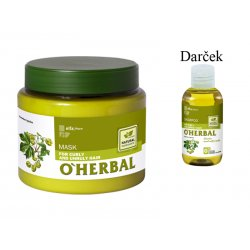 O´HERBAL For Curly and Unruly hair - maska pre kučeravé, krepovité a nepoddajné vlasy, 500 ml + šampón, 75 ml