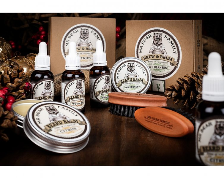 Mr. Bear Family Special Kit Brew and Brush - olej na bradu b48d7a78f3e