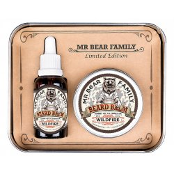 Mr. Bear Family Limited Edition Wildfire - olej na bradu, 30 ml + balzám na bradu, 60 ml