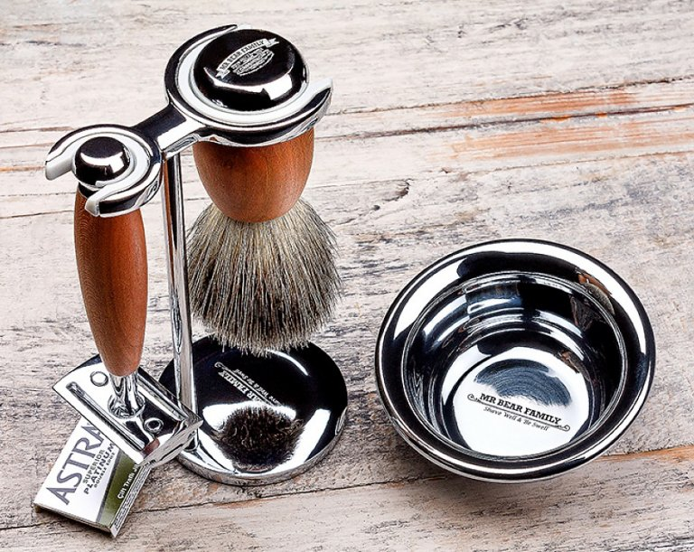Mr. Bear Family Shaving Bowl - Stainless Steel - miska na holenie, nerezová