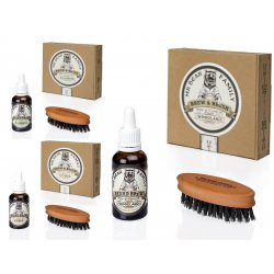 Mr. Bear Family Special Kit Brew and Brush - olej na bradu, 30 ml + kefka na bradu