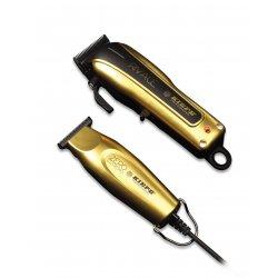 Kiepe Golden Combo set 6352 - profesionálny akumulátorový strojček Rivale  6315 + profesionálny kontúrovací strojček Zero 6324 + Gembird - stlačený  vzduch d45cc4b69bc