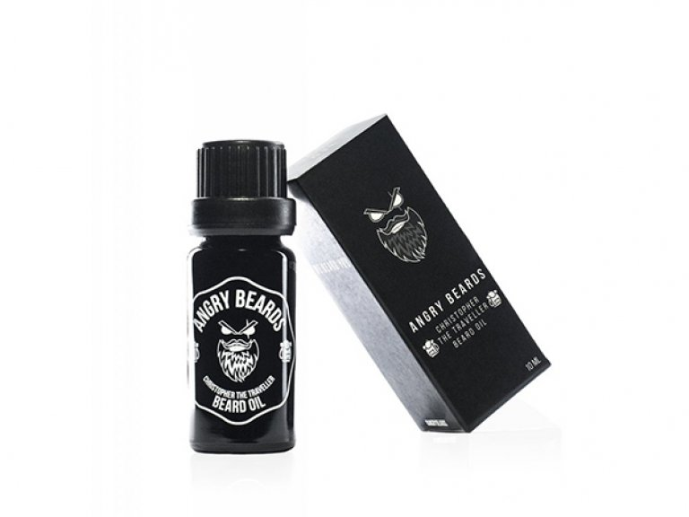 Angry Beards - Beard Oil Christopher The Traveller - Olej na bradu