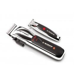 Kiepe Silver set - akumulátorový strojček V12 Superfast Clipper 6335 +  akumulátorový kontúrovací strojček Zero Estremo T Hair EVO Trimmer 6330 ddd262aeaab